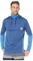 Quiksilver Waterman Angler Hooded Long Sleeve Sunshirt (Estate Blue) Men's Clothing
