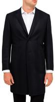Canali Wool Tonal Heri O/Coat
