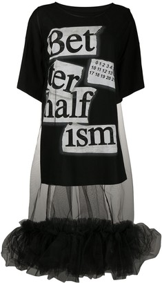 MM6 MAISON MARGIELA headline logo print T-shirt dress