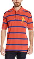 U.S. Polo Assn. Men's Narrow-Striped Polo Shirt With Big Pony
