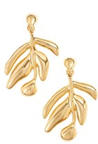Oscar de la Renta Women's Small Graphic Botanic Earrings