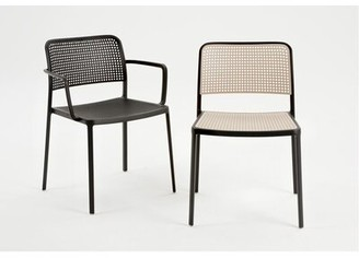 Kartell Audrey Armeless Chair (Set of 2 Frame Color: Polished Aluminum/White