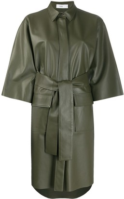 Closed Belted Shirt Dress