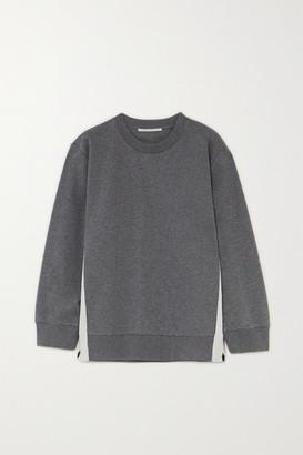 Stella McCartney Paneled Jersey Sweatshirt - Gray