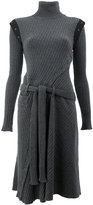 Paco Rabanne belt and button detailed dress