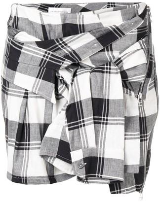 Faith Connexion Check Shirt-Sleeve Skirt