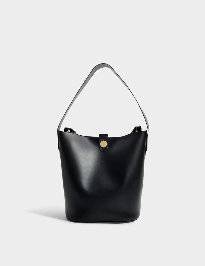 Sophie Hulme The Swing Large Bag in Black Cow Leather