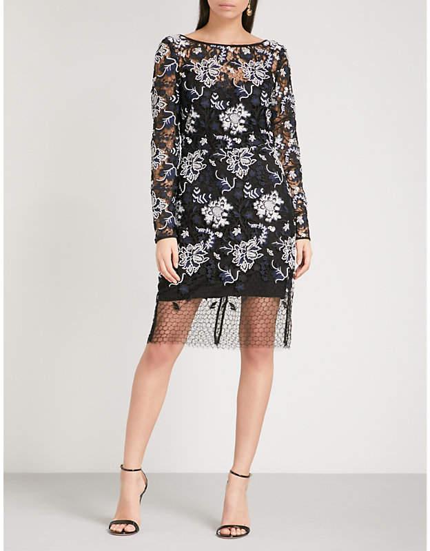 Diane von Furstenberg Floral-embroidered lace dress