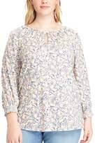 Chaps Plus Size Floral Jersey Top