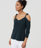LOFT Cold Shoulder Sweater
