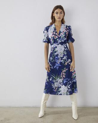 Vince Camuto Floral-Print Crepe Midi Dress