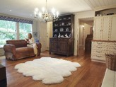 The Well Appointed House Octo Modern Country Sheepskin Rug-Available in Different Colors