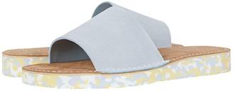 Clarks Lunan Slide (Black Suede) Women's Shoes