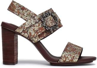 See by Chloe Rosie Crystal-embellished Glittered Leather Sandals