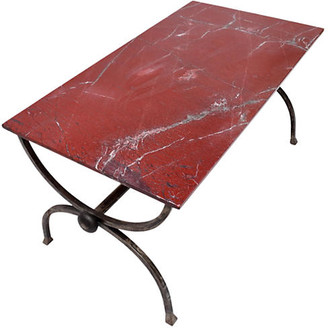 One Kings Lane Vintage Studio Forged Curule Form Dining Table - Cannery Row Home