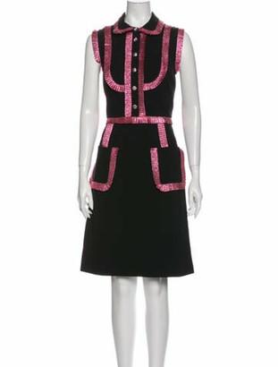 Gucci Printed Knee-Length Dress Black