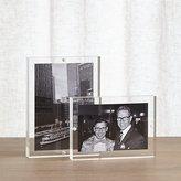 Crate & Barrel 2-Piece Acrylic Block Picture Frame Set