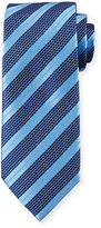 Ermenegildo Zegna Textured Stripe Silk Tie