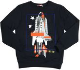 MSGM Rocket Printed Cotton Sweatshirt