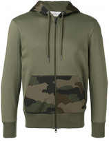 Moncler camouflage detail hoodie