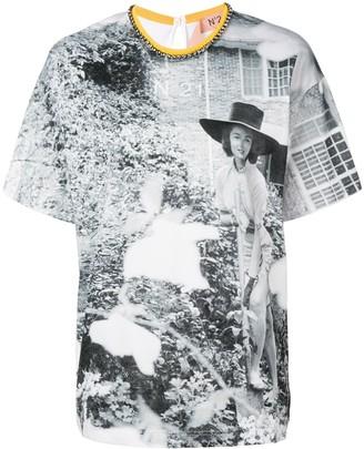 No.21 photograph print T-shirt
