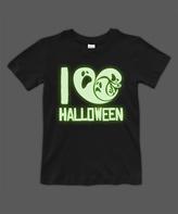 Urban Smalls Black Glow 'I Love Halloween' Crewneck Tee - Toddler & Boys