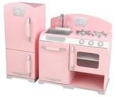 Kid Kraft Pink Retro Kitchen and Refrigerator Play Set