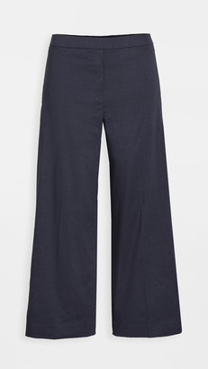 Theory Wide Leg Pull On Pants