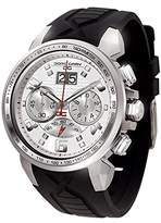 Jorg Gray Men's Quartz Watch with White Dial Chronograph Display and Black Rubber Strap JG5600-24