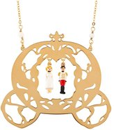 Les Nereides N2 by ONCE UPON A TIME CINDERELLA AND THE PRINCE WITH CARRIAGE LONG NECKLACE - Gold - OS