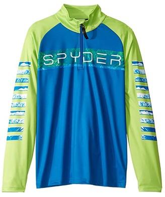 Spyder Peak Zip T-Neck (Big Kids) (Old Glory) Boy's Clothing