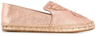 Sophia Webster Butterfly Embroidery Slip-On Espadrilles
