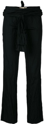 Romeo Gigli Pre-Owned Wrapped Waistband Trousers