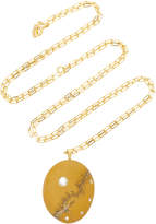 Cvc Stones Elementare 18K Gold Beach Stone and Diamond Necklace