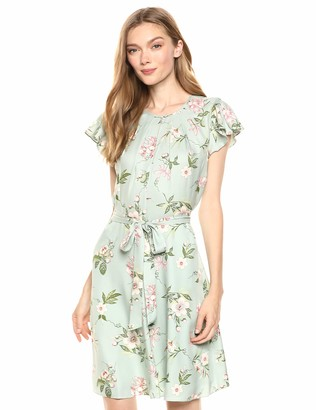 Rebecca Taylor Women's Short Sleeve Floral Mini Dress