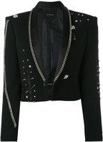 John Richmond Fortim chain embellished jacket - women - Acrylic/Polyester/Spandex/Elastane/Viscose - M