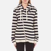 Maison Scotch Women's Home Alone Double Hooded Sweatshirt with Zip Closure Combo B