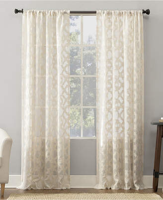 "Suite 918 Yvette Trellis Jacquard Sheer Rod Pocket Curtain Panel, 52"" W x 63"" L"