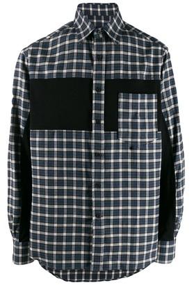Lanvin plaid contrast shirt