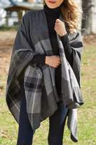 Mud Pie Rivington Plaid Wrap