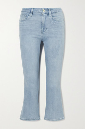 Frame Le Pixie Cropped High-rise Bootcut Jeans - Light denim