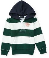 Ralph Lauren Boys 2-7 Striped Rugby Hoodie