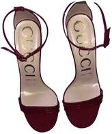 Gucci Burgundy Patent leather Sandals