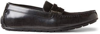 Calvin Klein Grey Ivan Leather Penny Loafers