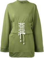 Fenty X Puma corset waist sweatshirt