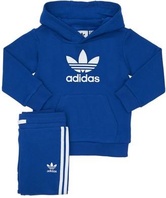 adidas Cotton Blend Sweatshirt & Track Pants