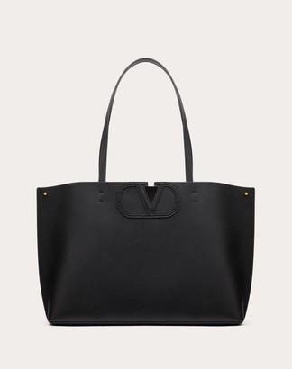 Valentino Small Fillme Tote Bag Women Black Goat Skin 100% OneSize