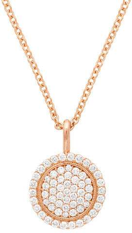Jamie Wolf 18k Scallop Pave Pendant Necklace