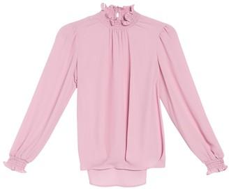Nanette Nanette Lepore Long Sleeve Smocked Blouse
