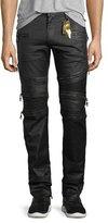 Robin's Jeans Zip-Detail Moto Racer Jeans